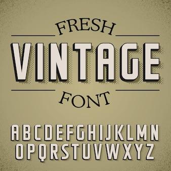 Fresh vintage font poster on dusty noise illustration