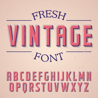 Fresh vintage font poster on the rose illustration