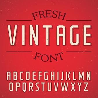 신선한 빈티지 글꼴 포스터