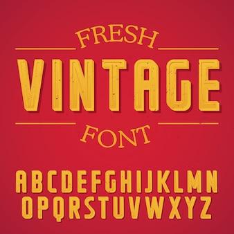 Fresh vintage font poster