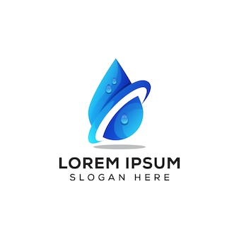 Fresh water logo, water drop logo vector