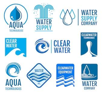 Fresh water vector logos