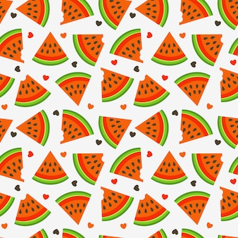 Fresh watermelon seamless pattern.
