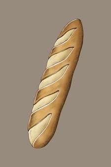 Freshly baked organic baguette