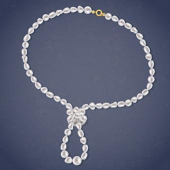 Ожерелье из пресноводного жемчуга с петлей.