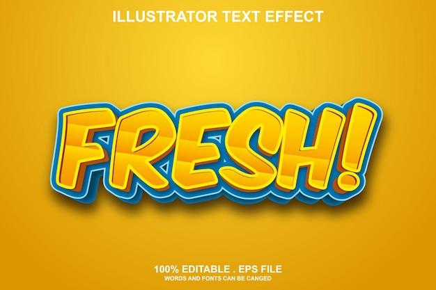 Текстовый эффект frest редактируемый