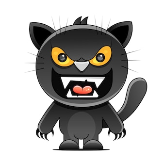 숫자와 검은 고양이와 함께 금요일 13 그런 지 그림. 벡터 미신 신비한 기호입니다.