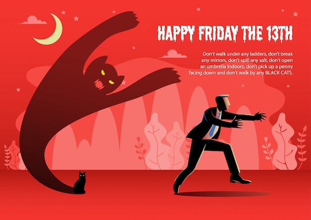 Friday the 13th vector illustration with text template