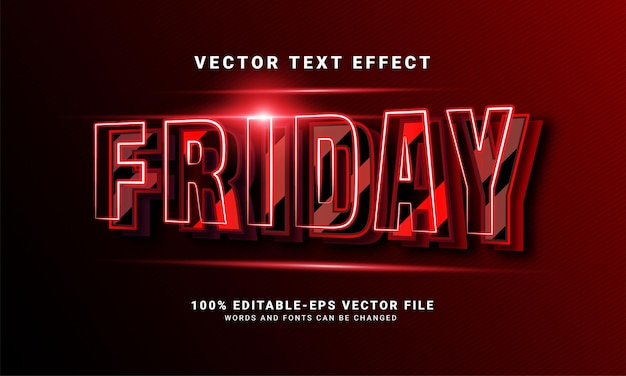 Friday 3d editable text style effect themed black friday sales promotion