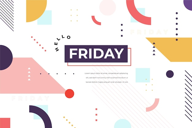 Friday abstract template