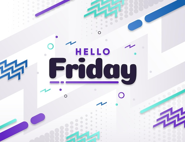 Friday background with lettering