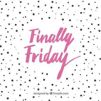 Friday background with polka dots