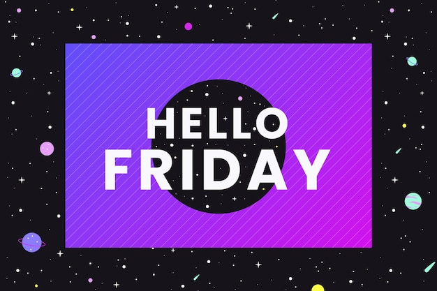 Friday - background Free Vector