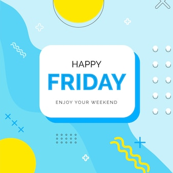 Friday enjoy your weekend blue background