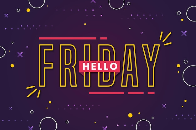Friday enjoy your weekend dotted background