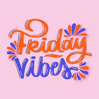 Friday lettering