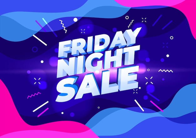 Friday night sale banner. sale banner template design.