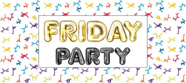 Friday party banner