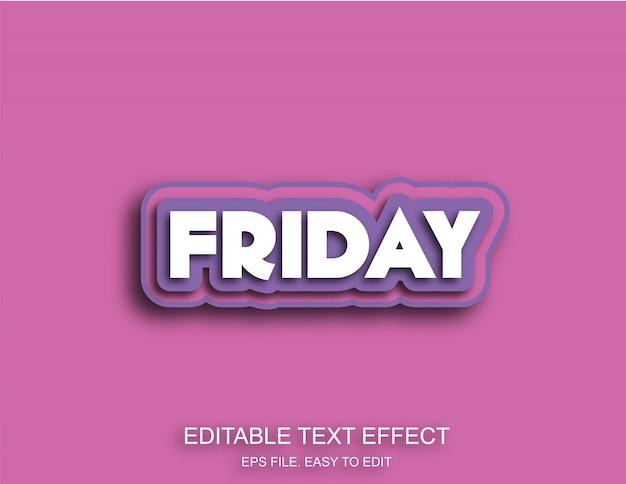 Friday purple color text effect
