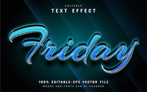 Friday text, editable text effect