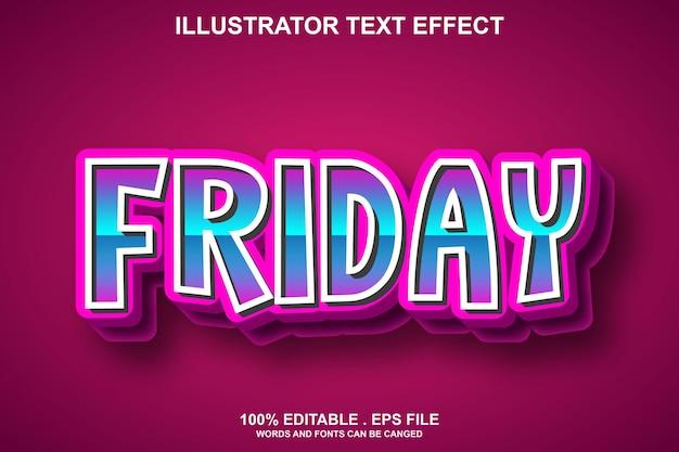 Пятница текстовый эффект редактируемый