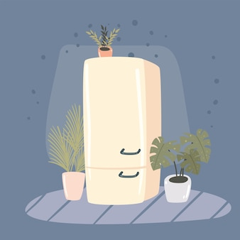 Холодильник и комнатные растения