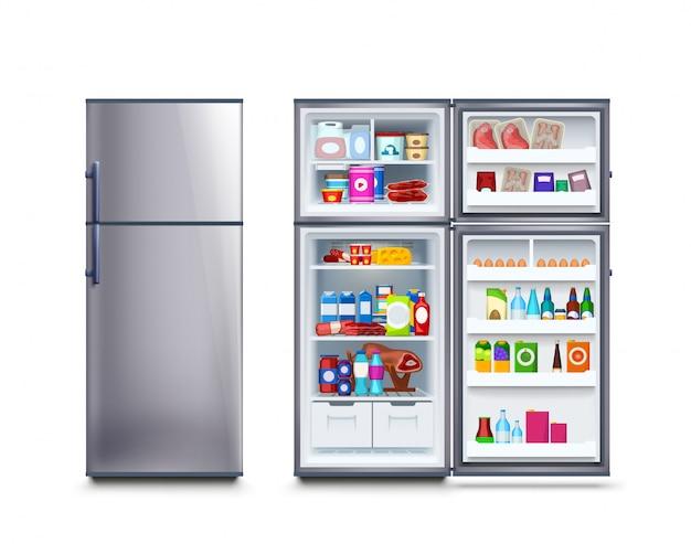 食べ物でいっぱいの冷蔵庫