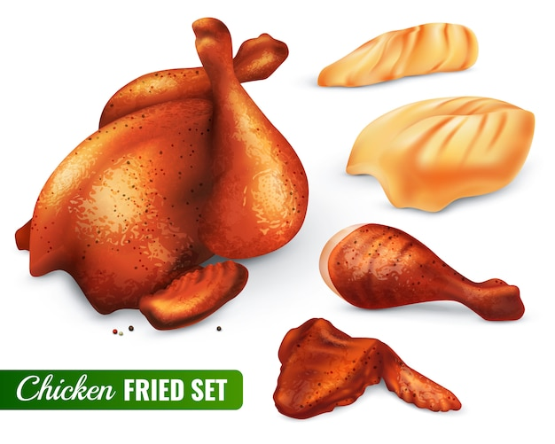 Fried chicken set