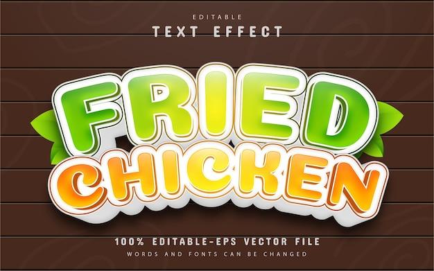 Fried chicken text effect cartoon style