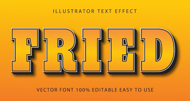 Fried  editable text effect