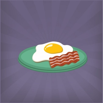Жареные яйца и бекон дизайн фона