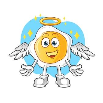 Жареные яйца ангел с крыльями мультипликационный персонаж