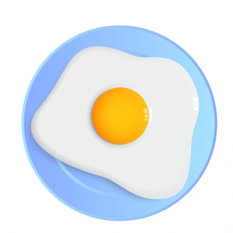 Fried egg and dish