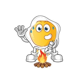 Жареные яйца жареный зефир мультипликационный персонаж