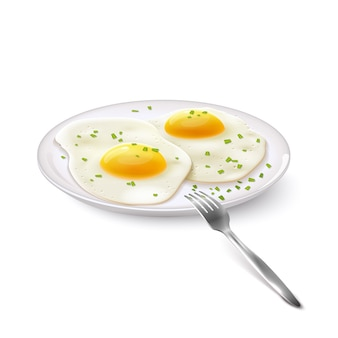Fried eggs realistic