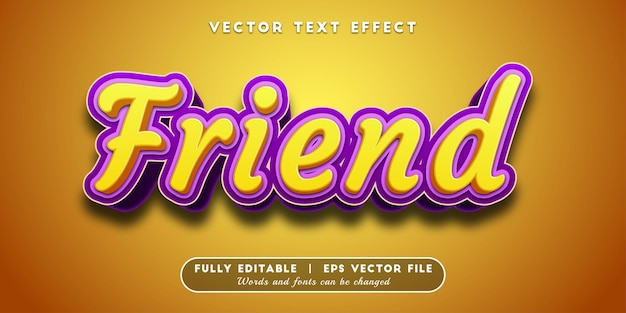 Friend text effect, editable text style