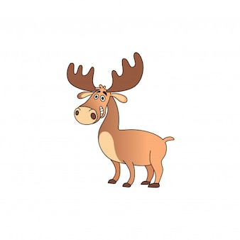 A friendly deer cartoon with a sweet smile