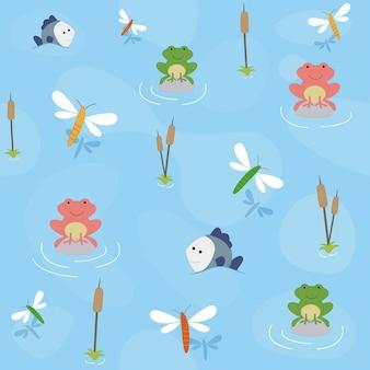 Friendly frog pattern