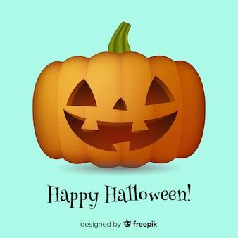 Friendly isolated halloween pumpkin