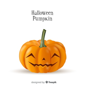 Friendly smiling isolated halloween pumpkin