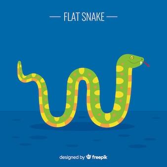 친절 뱀 배경