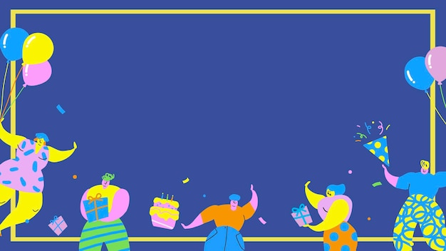 誕生日パーティーの背景を祝う友達