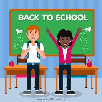Friends celebrating back to school