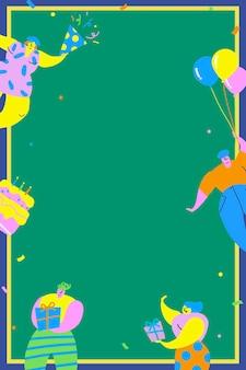 Amici che celebrano uno sfondo di festa di compleanno