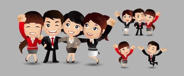 Друзья персонажей набор векторных смех друзей офисных коллег