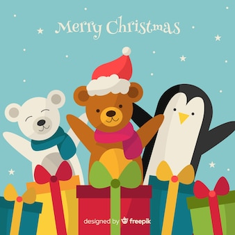 Friends christmas toys background