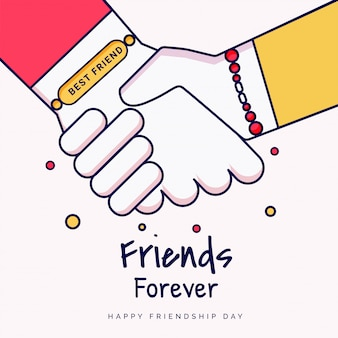 Friends forever greeting card design.