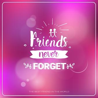 ハッピーフレンドシップデーのロゴグリーティングカードfriends holiday banner