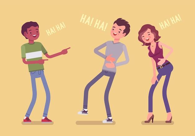 Друзья шутят и смеются