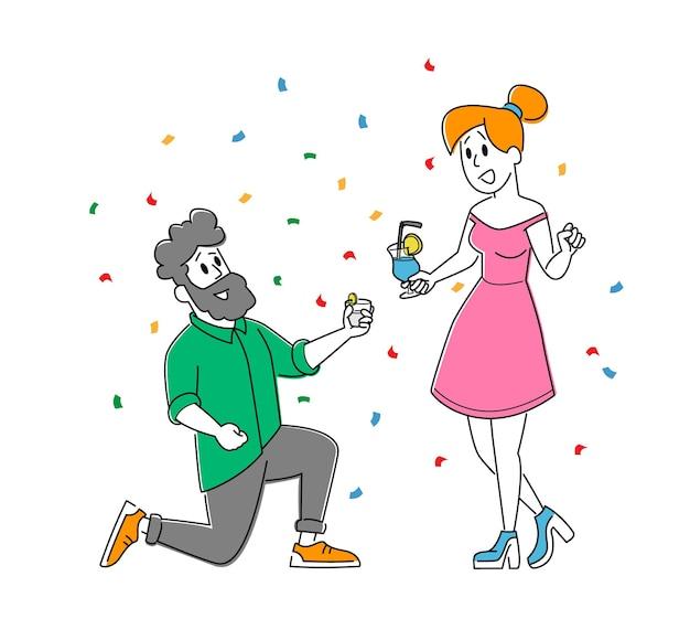 Встреча друзей, корпоратив. молодая женщина и мужчина, звенящие очки